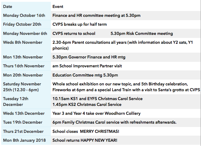 cvps-newsletter-diary-dates-13.10.17