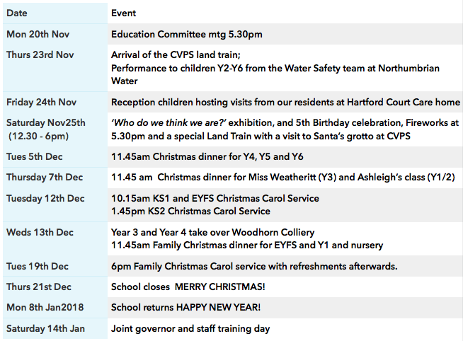 cvps-newsletter-diary-dates-17.11.17